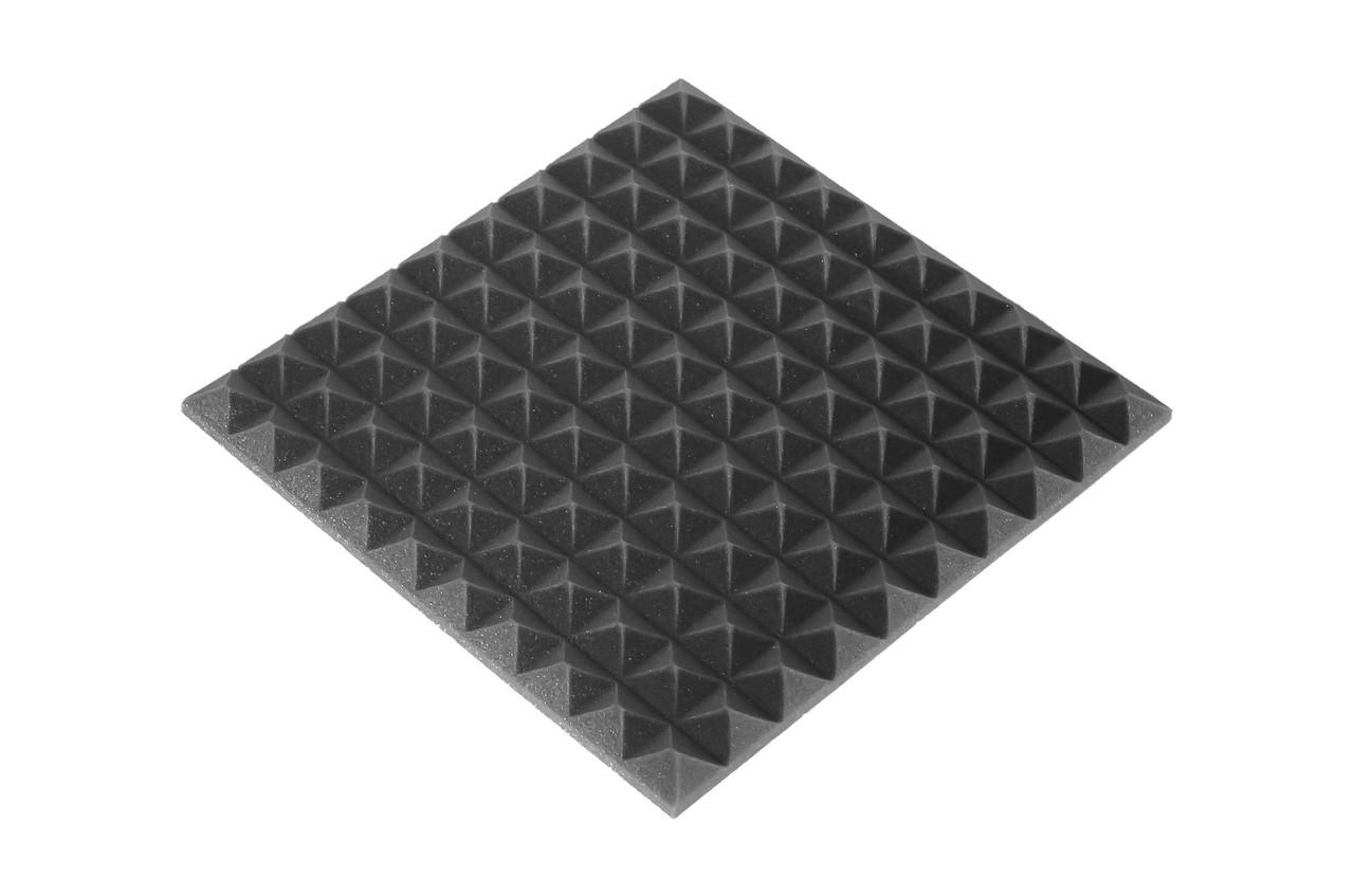 Акустическая панель Ecosound пирамида 30мм Mini,черный графит 50х50см из акустического поролона