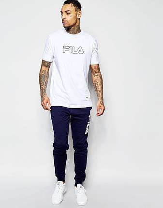 Мужская футболка FILA белая, фото 2