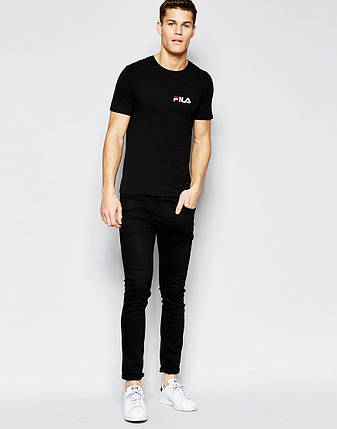 Мужская футболка FILA чёрная, фото 2