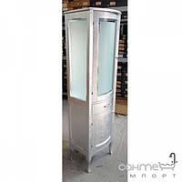 Мебель для ванных комнат и зеркала Gallo Пенал напольный Gallo Iris Colonna Foglio Argento