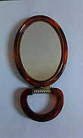 Зеркало косметическое овальное двухстороннее с увеличением, на подставке, №430-6