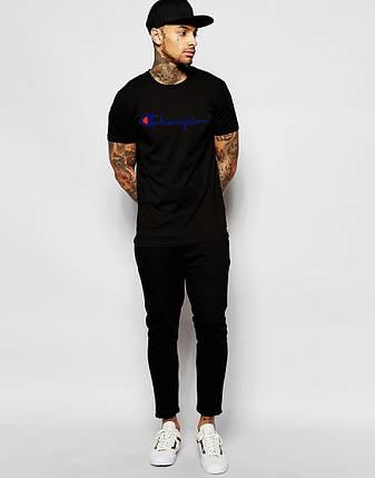 Мужская футболка Champion черная, фото 2