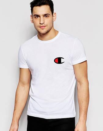 Мужская футболка Champion белая, фото 2