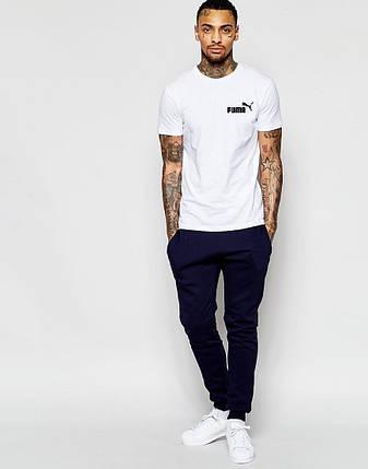 """Чоловіча футболка """"Puma"""" біла, фото 2"""