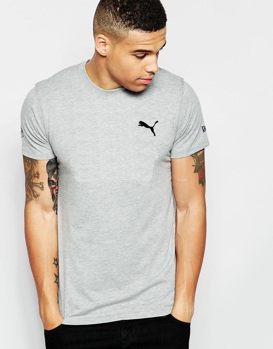 """Мужская футболка """"Puma"""" серая"""