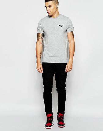 "Мужская футболка ""Puma"" серая, фото 2"