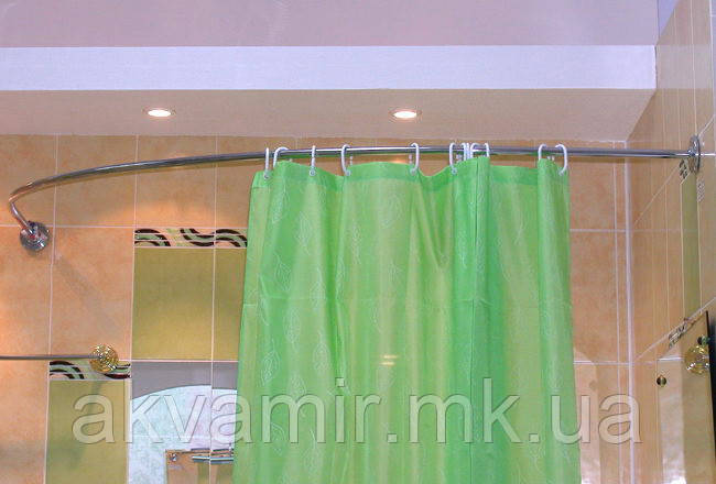 Карниз дугообразный 140х140 см для угловой ванны (разные размеры)