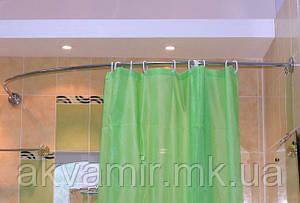 Карниз дугообразный 105х150 см для угловой ванны (разные размеры)