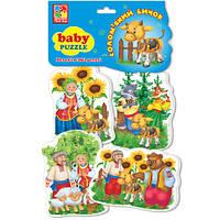 Беби пазлы «Бичок-смоляний бочок»,  VT1106-40, Vladi Toys