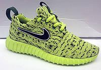 Кроссовки салатовые Nike Roshe Run весна-лето NI0120