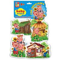 Беби пазлы «Три поросёнка»,  VT1106-37, Vladi Toys