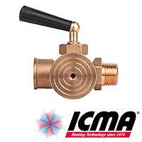 Icma 159 Кран 1/2 под манометр 3-х ходовой с фланцем