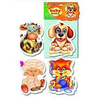 Беби пазлы «Домашние любимцы»,  VT1106-07, Vladi Toys