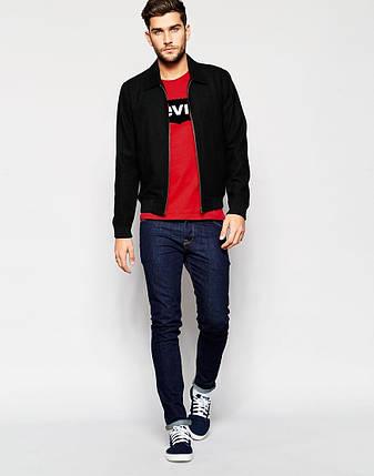 """Мужская футболка """"Levis"""" красная принтом, фото 2"""