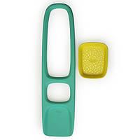 Лопатка с ситом для песка и снега Scoppi ТМ Quut ( цвет зеленый - желтый)