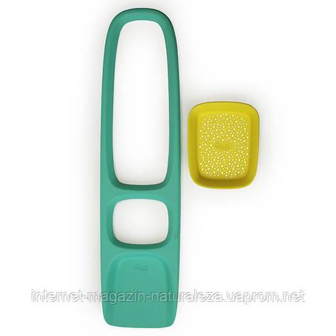 Лопатка с ситом для песка и снега Scoppi ТМ Quut ( цвет зеленый - желтый), фото 2