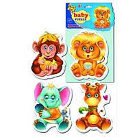 Беби пазлы «Зоопарк»,  VT1106-10, Vladi Toys