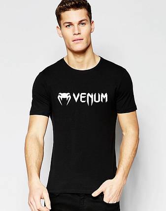"""Мужская футболка """"Venum"""" черная, фото 2"""