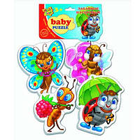 Беби пазлы «Забавные насекомые»,  VT1106-06, Vladi Toys