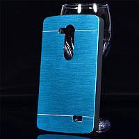 Чехол Motomo Aluminum для LG L Fino Dual D295 D290 голубой