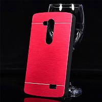 Чехол Motomo Aluminum для LG L Fino Dual D295 D290 красный