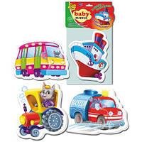 Беби пазлы «Машины-помощники»,  VT1106-08, Vladi Toys