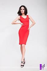 Летнее укороченное платье с фигурным декольте, фото 2