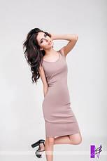 Летнее укороченное платье с фигурным декольте, фото 3