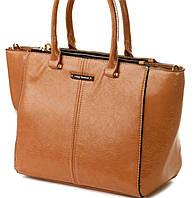 Бежевая сумка на три отделения Velina Fabbiano