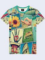 Модная мужская футболка с принтом Фотоколлаж