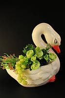 Кашпо Лебедь белый