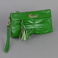 Зеленый клатч Gucci женский кожаный