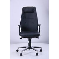 Кресло Элеганс НВ Неаполь-20 (черный), кант Неаполь-50 (белый) (AMF-ТМ)