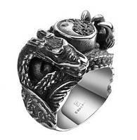 Кольцо нержавеющая сталь дракон инь-янь