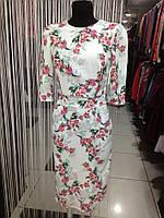 Платье женское цветочный узор