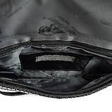 Чорний жіночий клатч з каменів Rose Heart 3211 вечірній випускний з кистьовою ручкою на зап'ястя, фото 5
