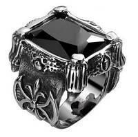 Перстень нержавеющая сталь черный