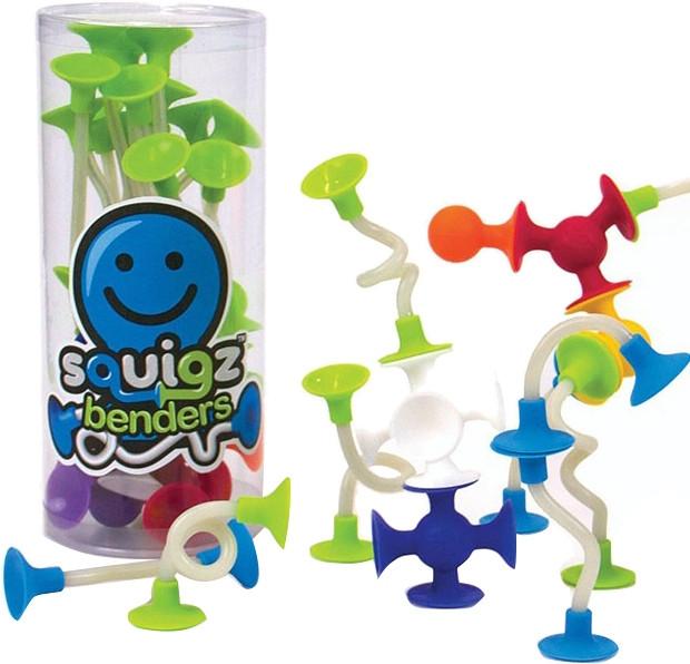 Конструктор Fat Brain Toys з присоск Squigz Benders (18 шт)