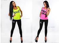 Модный костюм бренд  D&G, YSL, Chanel ( Лосины + Майка)