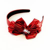 Обруч для волос с бантом пластик/ткань-12 шт.- ширина 2,5 см. * Ø 12,0 см.