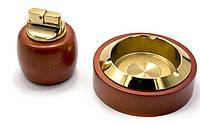 Подарочный набор Borui 2 в 1 зажигалка и пепельница 2677