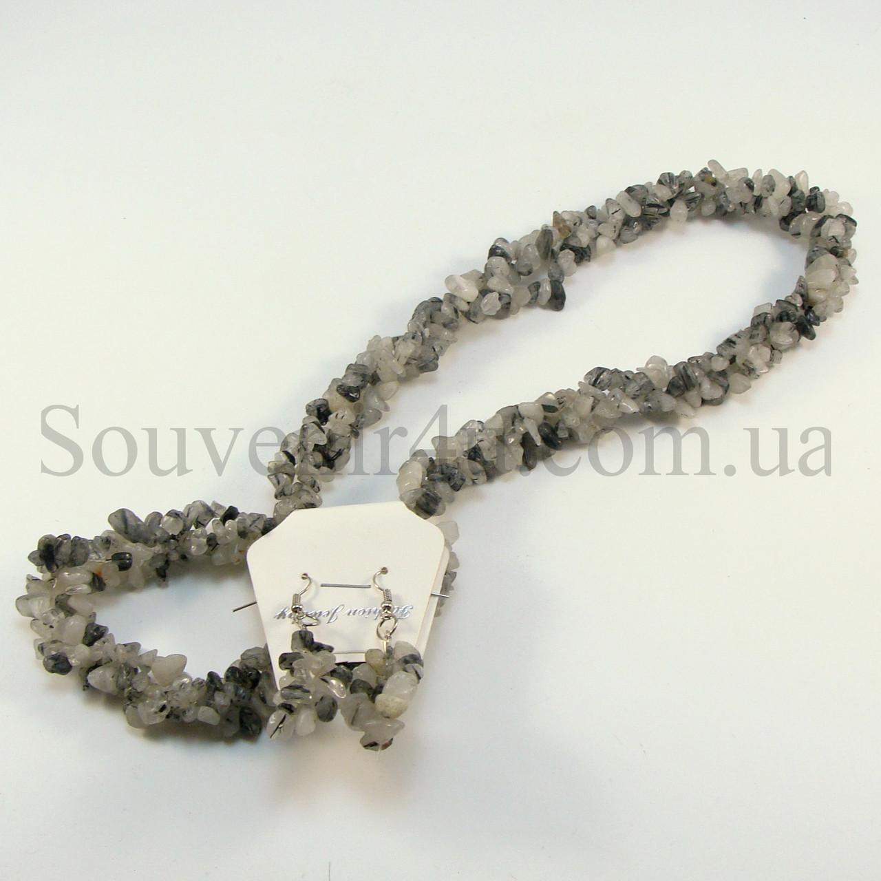 Комплект из мохового агата - Сувениры оптом в Одессе