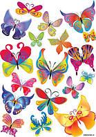 Бабочки ассорти 14 Вафельная картинка