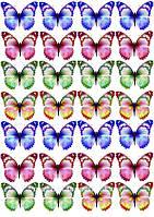 Бабочки ассорти 20  Вафельная картинка