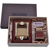 Подарочный набор Pioneer 2 в 1 зажигалка и пепельница 3620