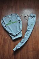 "Спортивный костюм ""Stone Island"" мужской серый на резинках"