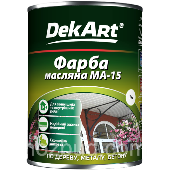 Краска масляная МА -15 DekArt (светло-зелёная) 1кг