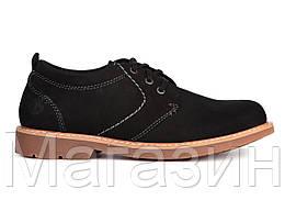 Мужские туфли Timberland Oxford Shoe Black (Тимберленд) черные