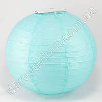 Бумажный подвесной фонарик, светло-голубой, 40 см