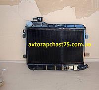 Радиатор ВАЗ 2105 без отверстия под датчик (2-х рядный, медно-латунный)   завод Оренбургский радиатор, Россия